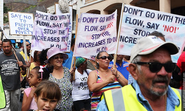 "Water Tariffs Protest March On St Helena – ""Enough Is Enough"""