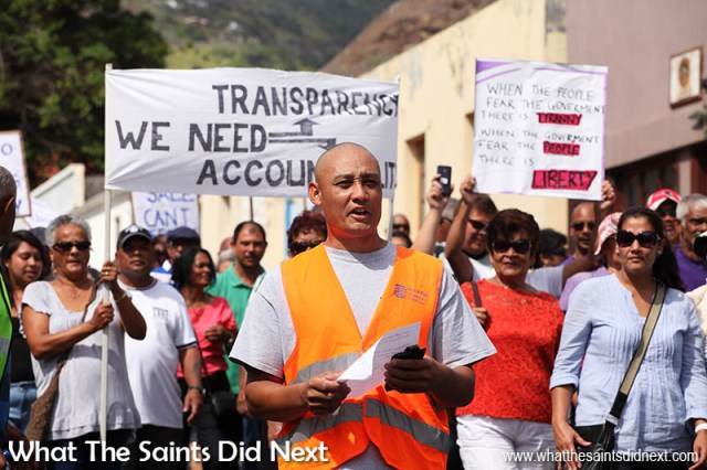 Water Tariffs Protest March On St Helena