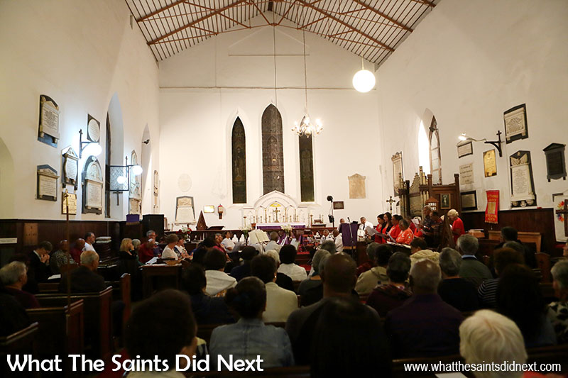 St James' church, St Helena, full for service at Christmas.