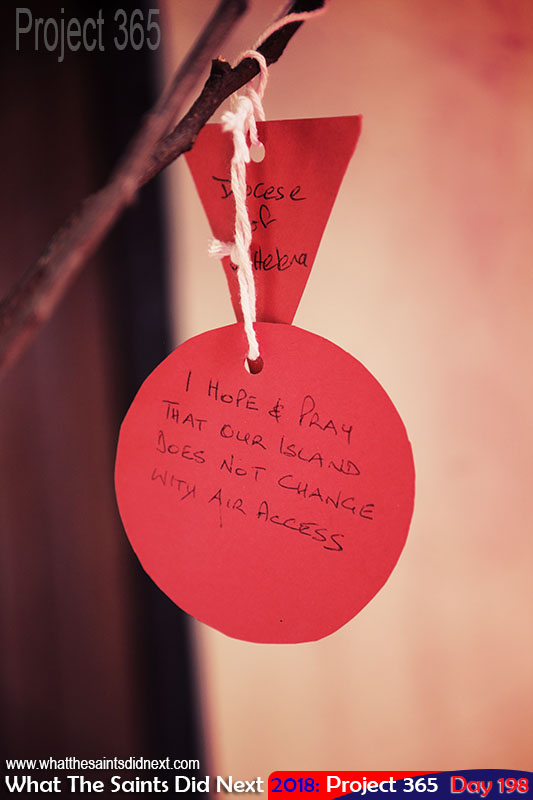 A message on a church tree of prayer.