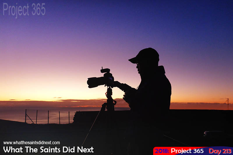 "Photographing an <a href=""http://whatthesaintsdidnext.com/dozen-spectacular-st-helena-sunset-photographs/"" target=""_blank"" rel=""noopener"">island sunset</a>."