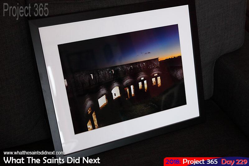 High Knoll Fort print, framed.