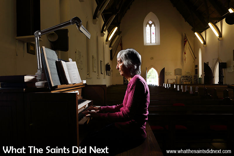 Church organist, Joy George, has played music in St Pauls Cathedral for 56 years.