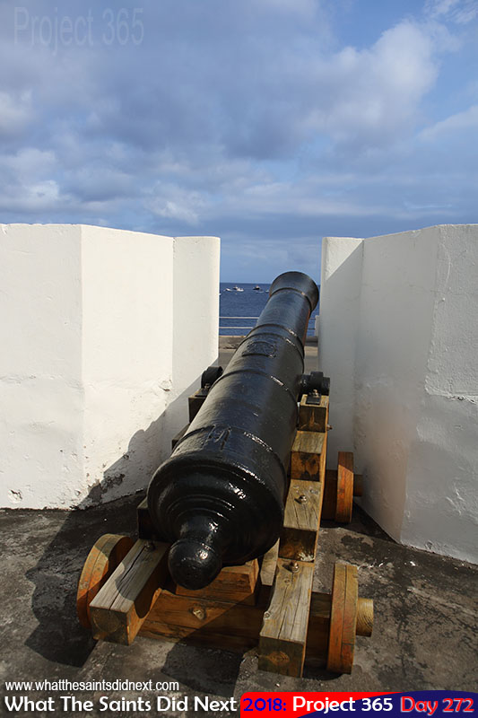 Historic cannon on the wharf.