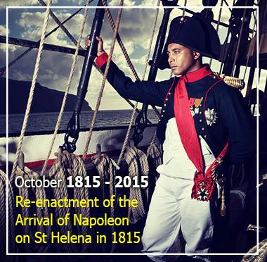 Arrival of Napoleon Bonaparte at St Helena, October 1815 - 2015