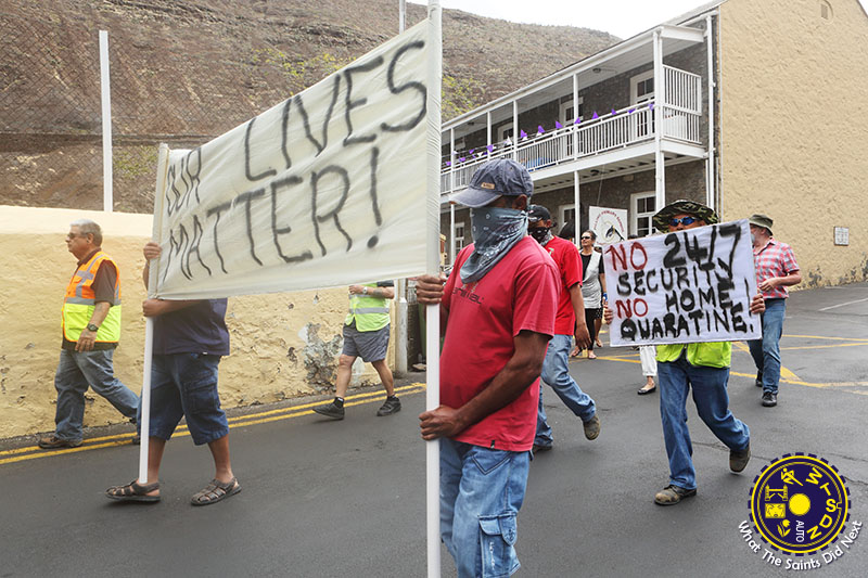 Covid-19 Home Quarantine March on St Helena Island