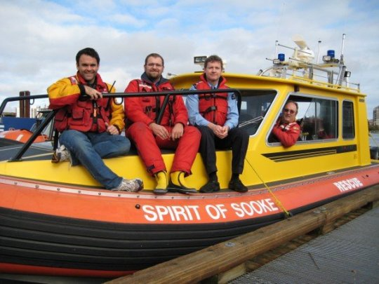Me, Chris, and Robert in Victoria at a SAR Exercise last year.