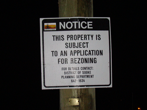 A rezoning sign has re-appeared at Seaview as of yesterday.