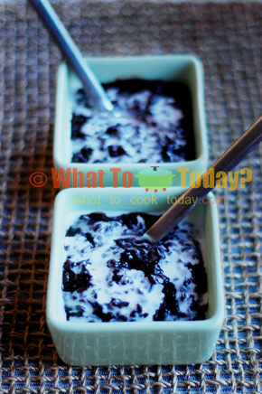 BLACK GLUTINOUS RICE WITH COCONUT MILK