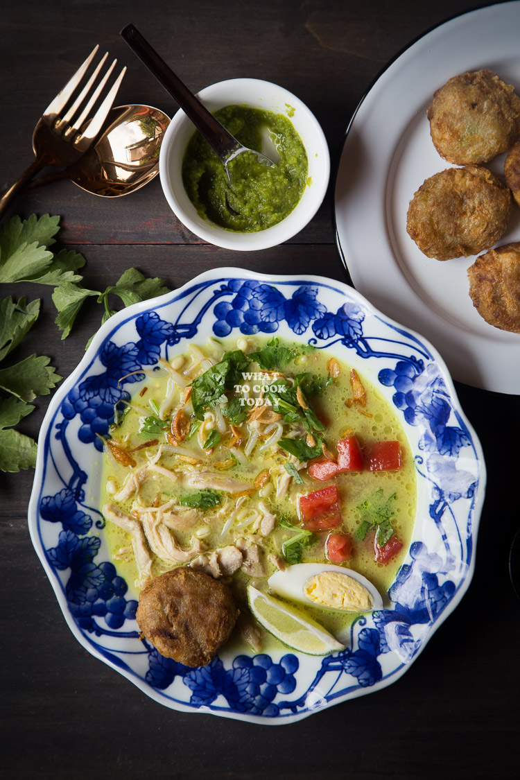 How to make Soto Ayam Medan (Chicken Soup in Coconut Milk). Delicious easy one pot Indonesian recipe. Click through for full recipe and step by step instructions