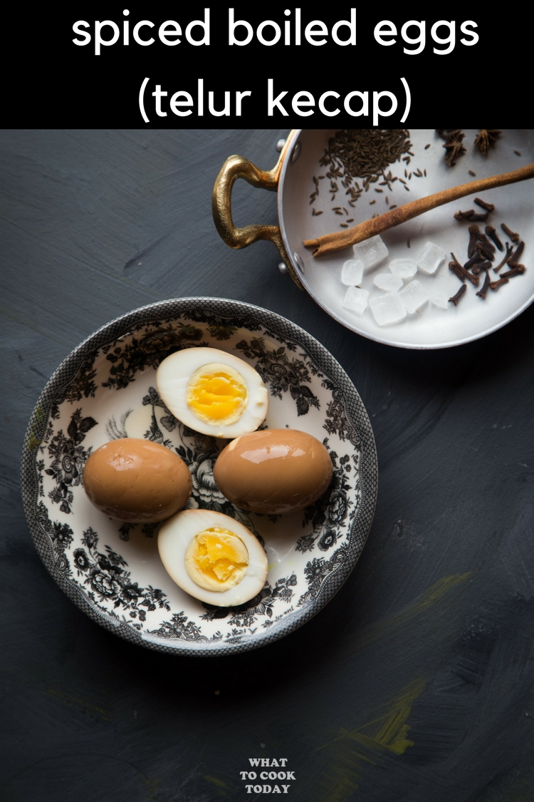 Hard or soft-boiled eggs are soaked in liquid spiked with spices and soy sauce that gives you beautiful dark brown eggs #boiledeggs #eggs #recipe