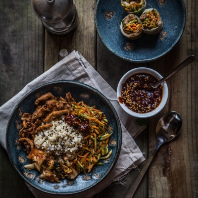 Bibimbap (mixed rice bowl) two ways