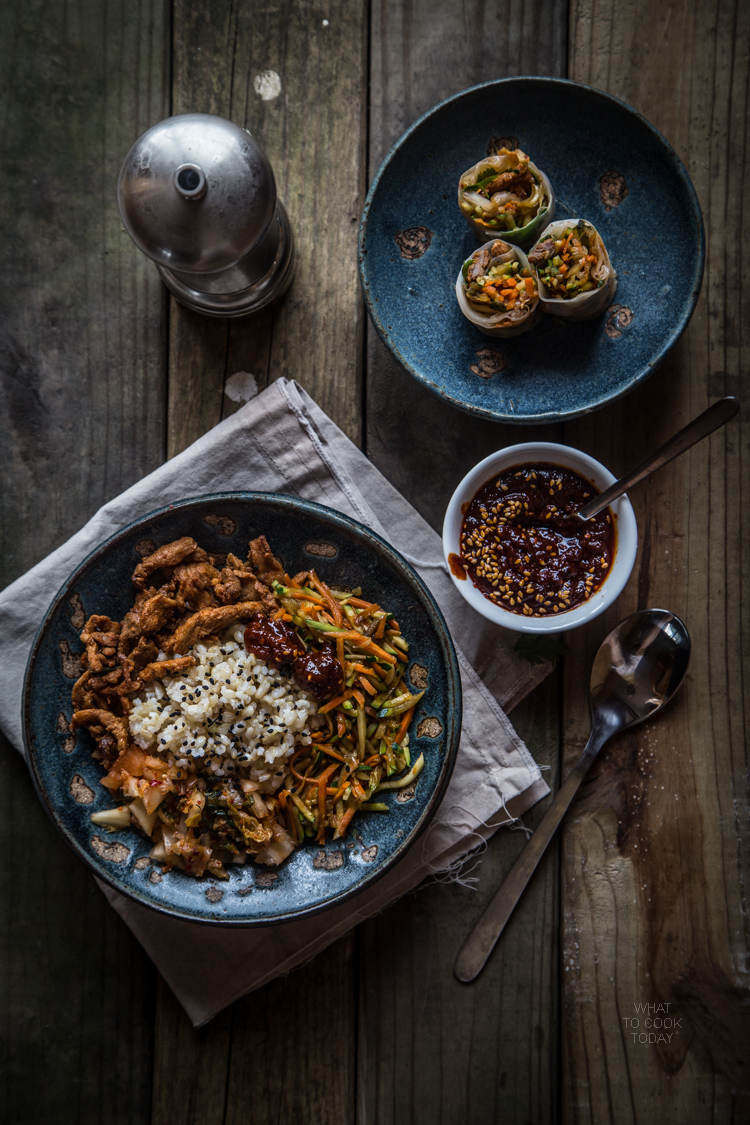 Bibimbap (mixed rice bowl) two ways. Perfect delicious meal for busy weeknight  #koreanfood