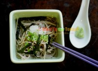 COLD SOBA NOODLES WITH GRATED DAIKON