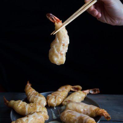 Leng Hong Kien (Mayonaise Udang / Sweet Mayonnaise Shrimp)