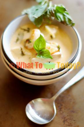 FISH AND SHRIMP SOUP WITH BASIL AND LEMON