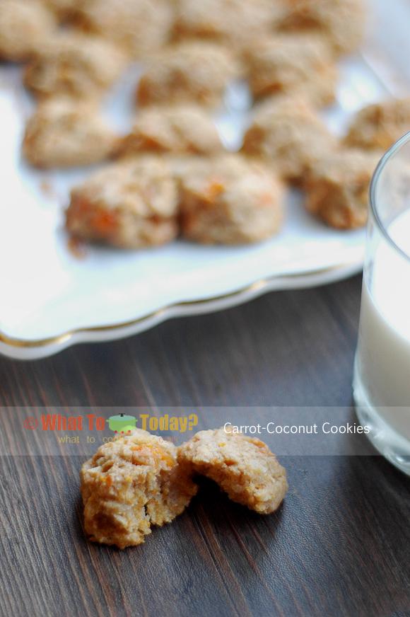 CARROT-COCONUT COOKIES