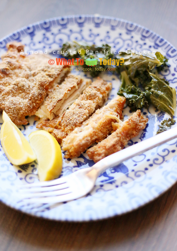ALMOND-CRUSTED PAN-FRIED CHICKEN