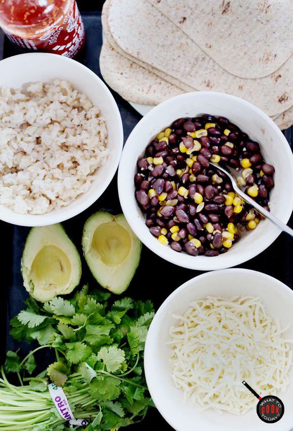 SPICY RICE, BEANS, AND AVOCADO WRAP