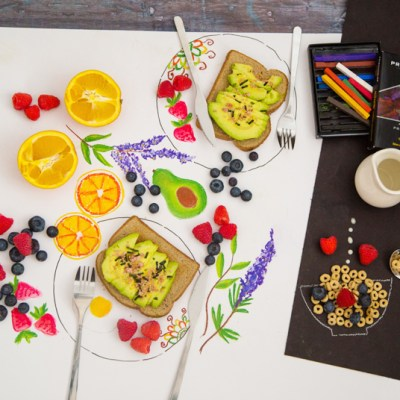 Color your breakfast and eat it too