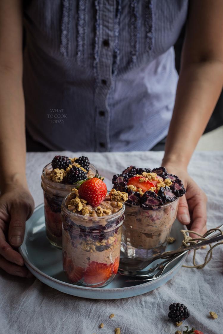 Very berry chocolate banana rice pudding. #Bananamazing #ad