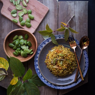 Stink bean fried rice (Nasi goreng petai)
