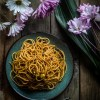 Super simple spicy and tangy noodles