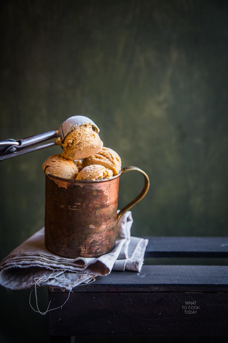 Cinnamon brown sugar pumpkin ice cream