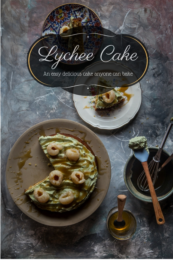 Lychee cake. Easy cake anyone can bake  What To Cook Today