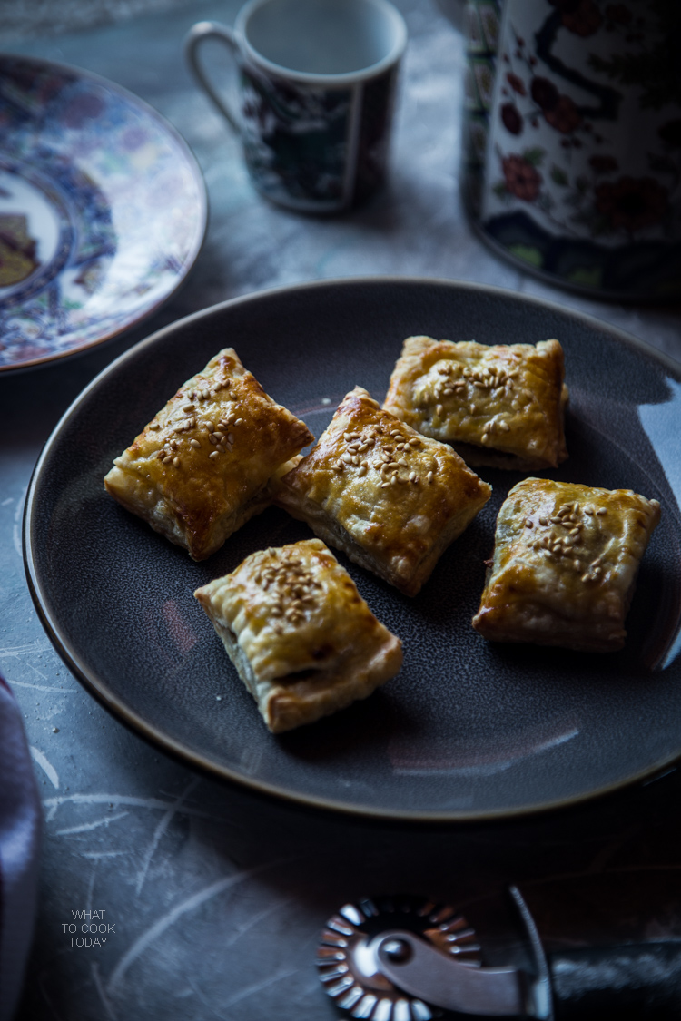 Chinese roast pork puff pastry. Made with classic Chinese char siu. So yummy you can't stop eating. Great party food too