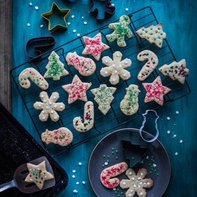 Christmas maple sugar cookies