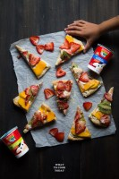Super easy yogurt pizza dough and fruit pizza