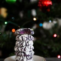 Amazingly Soft Purple Sweet Potato Crinkle Cookies