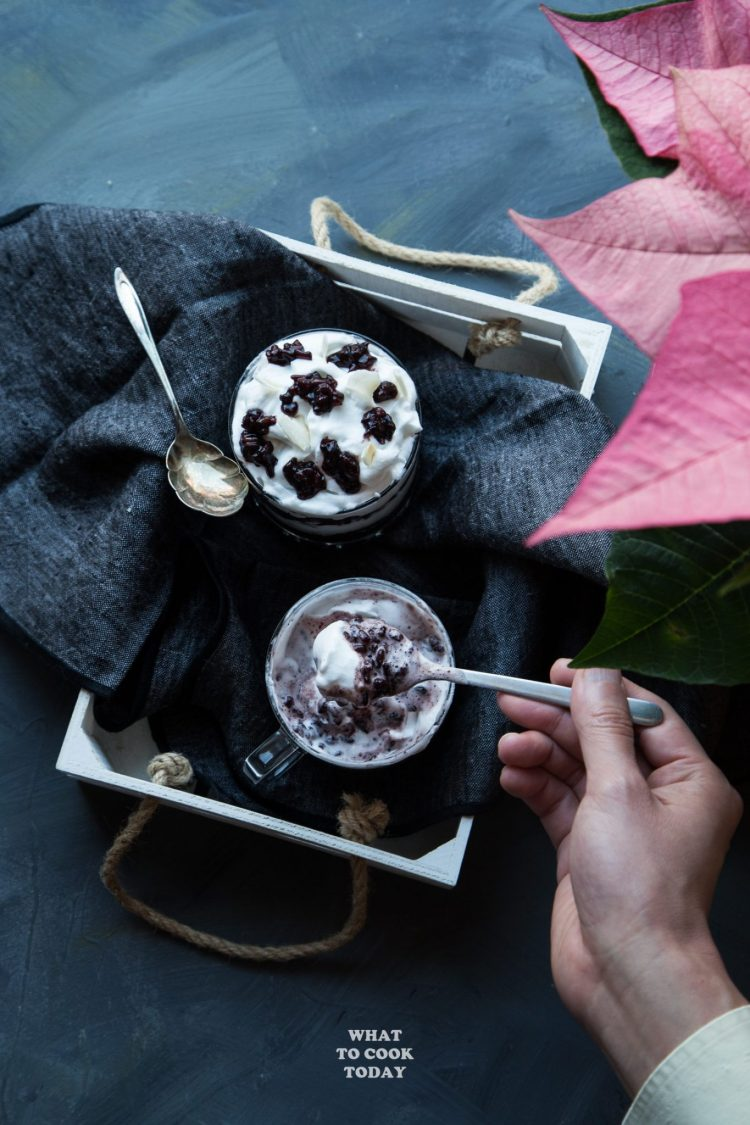 Coconut Black Sticky Rice with White Chocolate Mousse with Royal Delights #RoyalDelights #ad