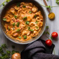 Super Easy Sour Cream Shrimp Curry