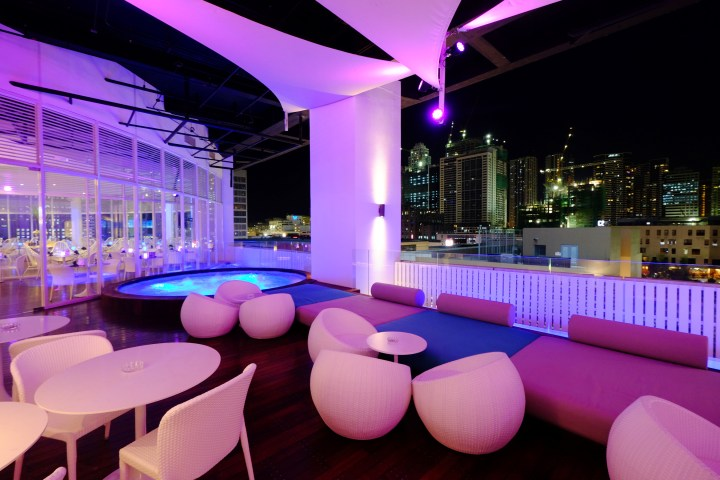 The jacuzzi area at Ibiza BGC
