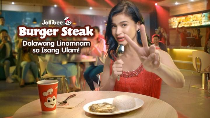 Jollibee Burger Steak with Anne Curtis