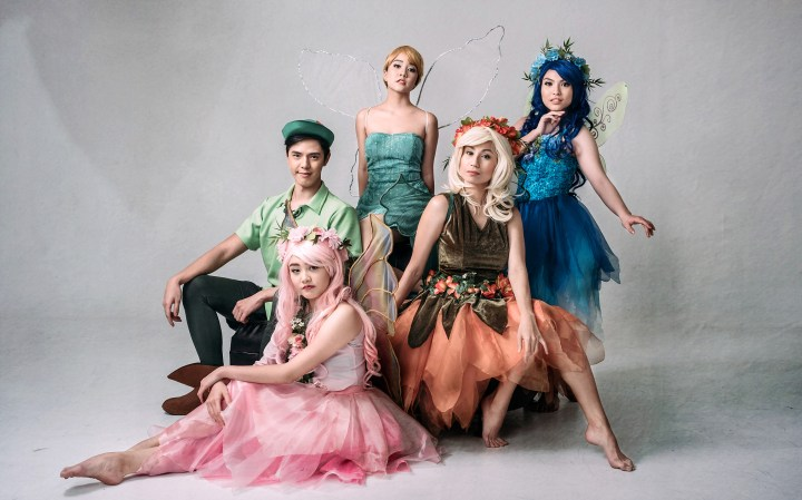 Peterpan, Tinkerbell, and other fairies