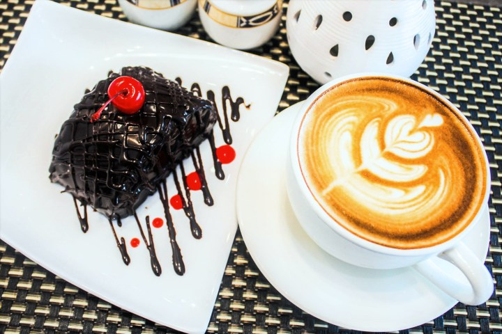 RHI Coffee Pairings - Choco Moist Cake & Cappuccino