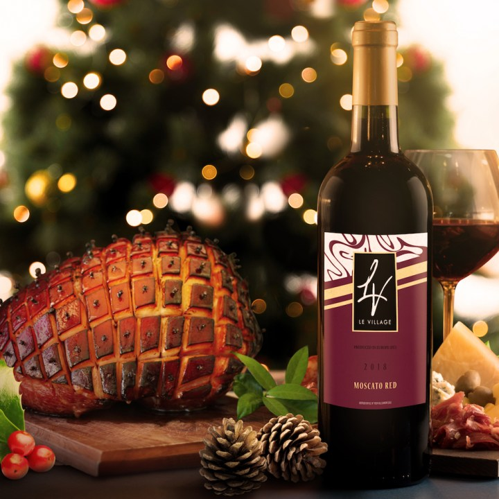 Moscato Wine and Christmas Ham