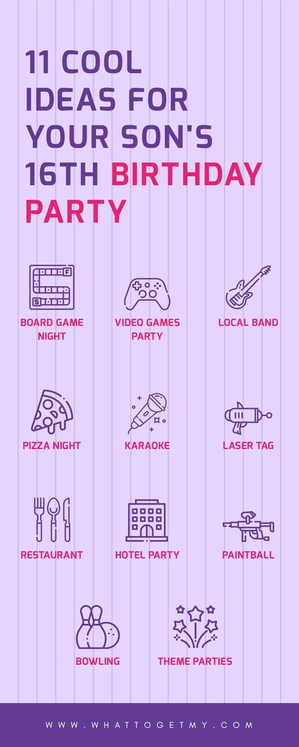 11 Cool Ideas For Your Son S 16th Birthday Party What To Get My