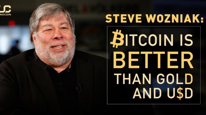 Стив Возняк: биткоин лучше золота и доллара