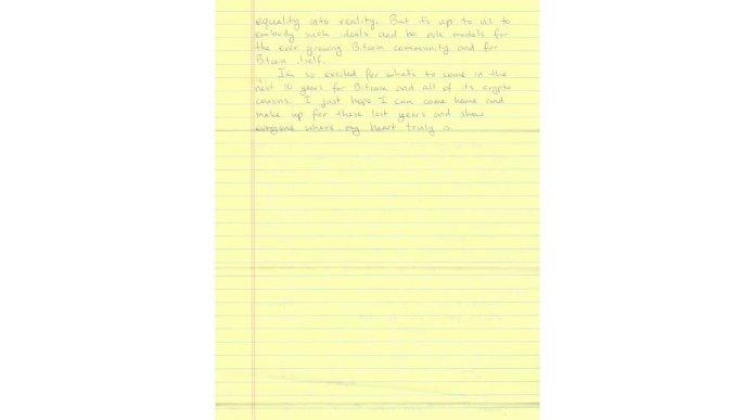 «Родительская гордость»: Росс Ульбрихт поздравил биткоин с днём рождения в рукописном письме