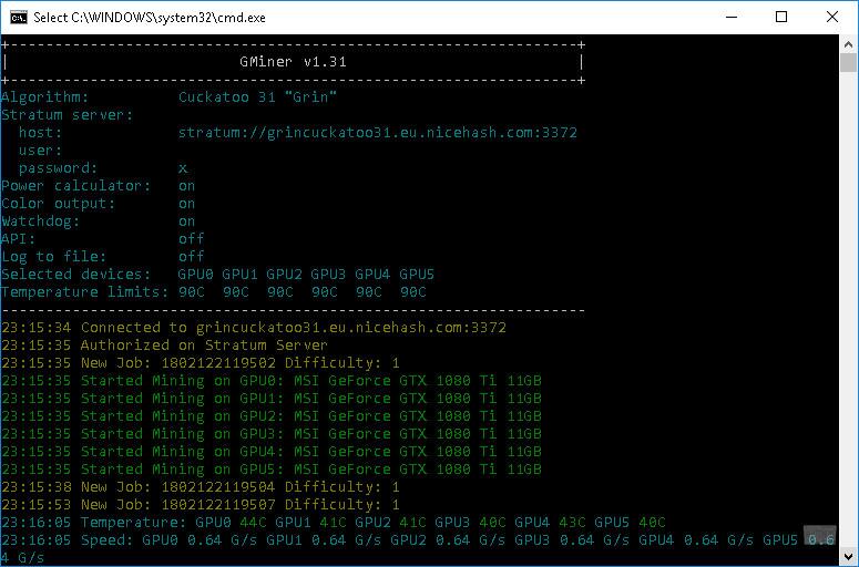 GMiner CUDA Equihash Miner v1.31 с поддержкой алгоритма GRIN Cuckatoo31
