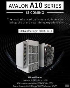 Canaan Creative представила новый биткоин-майнер AvalonMiner A10