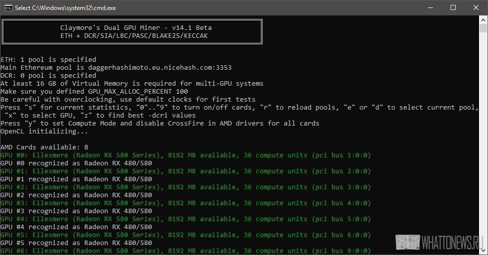 Новый Claymore Dual Ethereum + Decred/Siacoin/Lbry/Pascal/Blake2s/Keccak AMD + NVIDIA GPU Miner 14.1 Beta