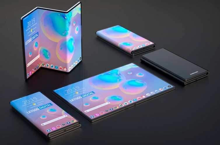 Samsung Galaxy Z-Fold с большим складным экраном