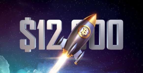 Цена биткоина прошла $12500 и рвётся к $13000
