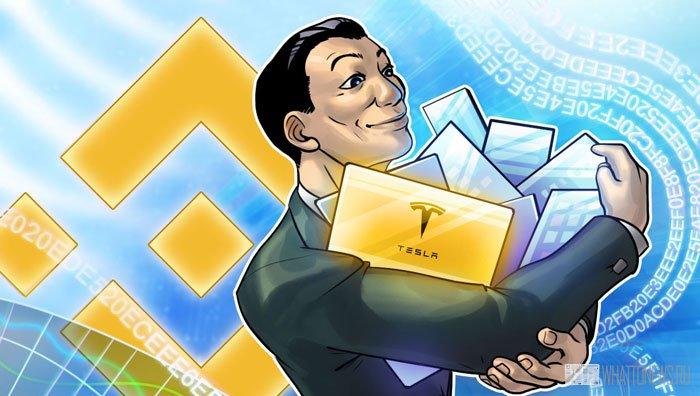 На криптобирже Binance станут доступна покупка и продажа акций Tesla