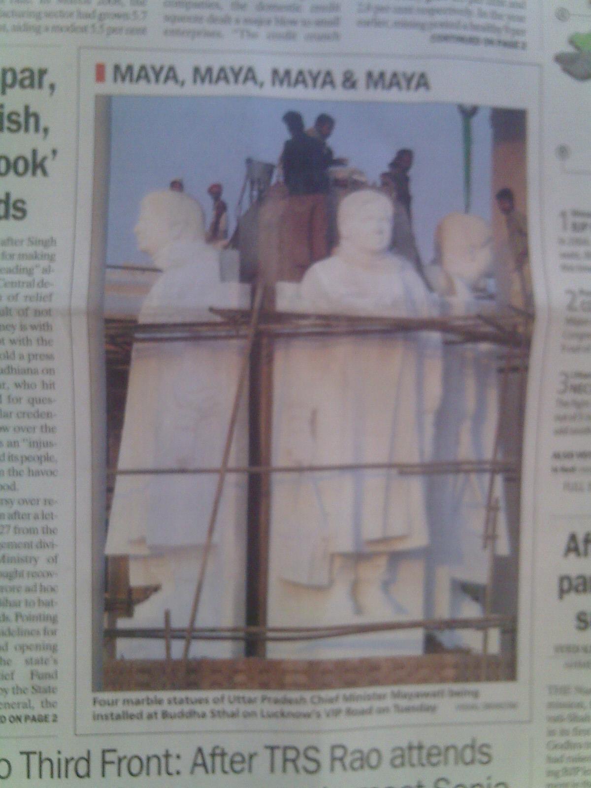 mayawati-statues-indian-express